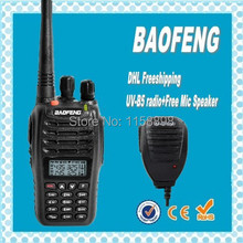 DHL freeship+Baofeng uv-b5 radio walkie talkie uv b5 dual band mobile radio vhf uhf ham radio handheld transceiver+UVB5 speaker
