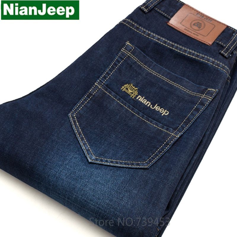 2017 Brand Mens Jeans Summer Slim Straight Pants Denim Trousers Size 38 40 42 Jeans for Men Business JeansОдежда и ак�е��уары<br><br><br>Aliexpress