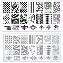 Nail Art Stamping water wave Design Styles Manicure Nail Craft Stamping Template Stencil Image Plates Polish Tool ##02(China)