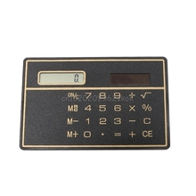 Calculator Ultra Thin Mini Credit Card Sized 8-Digit Solar Powered Pocket Calculator #H029#