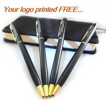 Free shipping pen/unique gift ideas/metal pen with brand/promotional products with logo/promotional pens with free print logo(China)