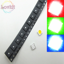 100pcs 5050 PLCC-6 RGB LED Red Green Blue SMD Chip 3-CHIPS Emitting Diodes SMT lamp beads For automotive/ Bike /Lamps/ toys DIY(China)