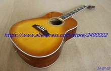 Custom Acoustic Guitar,thin brown burst,Huming Bird model.high quality Wholesale & Retail, Real photo showing(China)