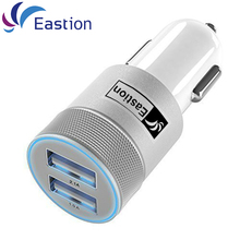 Eastion Mobile Car Charger for iPhone iPad Samsung Phone Device 2 Ports USB Car-Charger Cigarette Lighter Adapter Charging