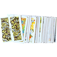 48pcs Nail Art Decals Sets NEW Sexy Tiger Peacock Full Wraps Sticker Nail Art Water Transfer Patch DIY Decor Tools TRXF1470-1517