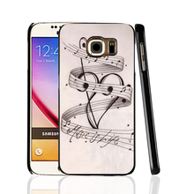 06851 MUSIC NOTES MUSIC IS LIFE cell phone protective case cover for Samsung Galaxy A3 A5 A7 A8 A9 2016