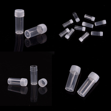 10pcs 5ml Centrifuge Plastic Test Tubes Bottles Vials Sample Containers Powder Craft with Screw Caps Refillable Bottles(China)