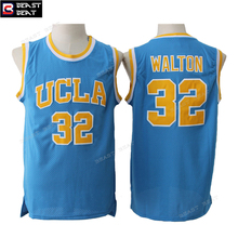 Men's Bill Walton #32 UCLA Basketball Jerseys Throwback Retro Blue Classical Beast Beat Edition Breathable Quality Jerseys(China)