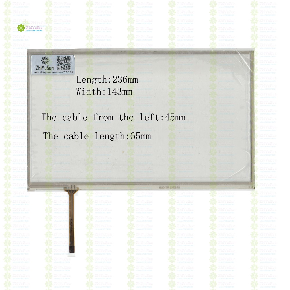 ZhiYuSun HLD-TP-2772 236mm*143mm 10.1inch  4lines NEW touch screen panel TOUCH glass sensor 236*143 for DVD car  touch screen<br>