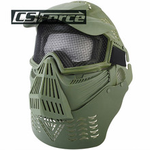 CS Force Protective Face Guard Mask with Mesh Goggles Military Masks for Paintbal lWargame Hunting