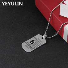 "Trendy Father Inspired ""TO MY SON NEVER FORGET THAT I LOVE YOU "" Dog Tag Pendant Necklace Son Birthday Celebration Gifts(China)"