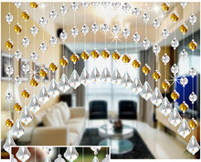 200cm W x 100cm L Arch bead curtain 32 section of glass beads Maple leaf pendant Decorate doors Windows finished product sell(China)