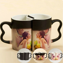 Personality Logo Gift Custom Creativity Couples Love To Cup DIY Magic Cup Ceramic Discoloration Mug Photo Printed Cups