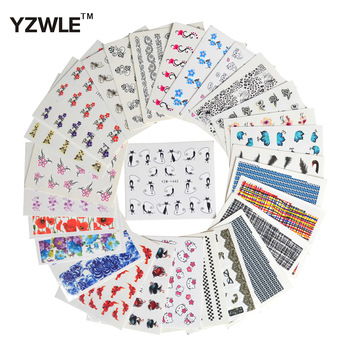 YZWLE 30 Sheets DIY Decals Nails Art Water Transfer Printing Stickers Accessories For Nails