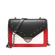 YISHEN Ladies Metal Chain Star Rivet Flap Bags Women Personality Solid Messenger Bags Female Fashion Charm Shoulder Bags QSL0900