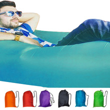Sleeping lazy bag inflatable air sofa lazy lounger laybag outdoor flocked inflatable camping portable air sofa beach bed