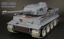 Henglong1/16 Germany Main Battle Tank Tiger I Tank model blue Ultimate metal version with 2.4G RC Smoke Sound Metal Gear Tracks