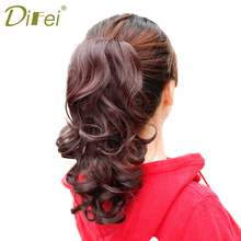 Buy DIFEI Big Wavy Claw Curly Synthetic Ponytail Hair Extensions Clip In/On Drawstring Ponytail Extensions Hair Pieces Women for $5.50 in AliExpress store
