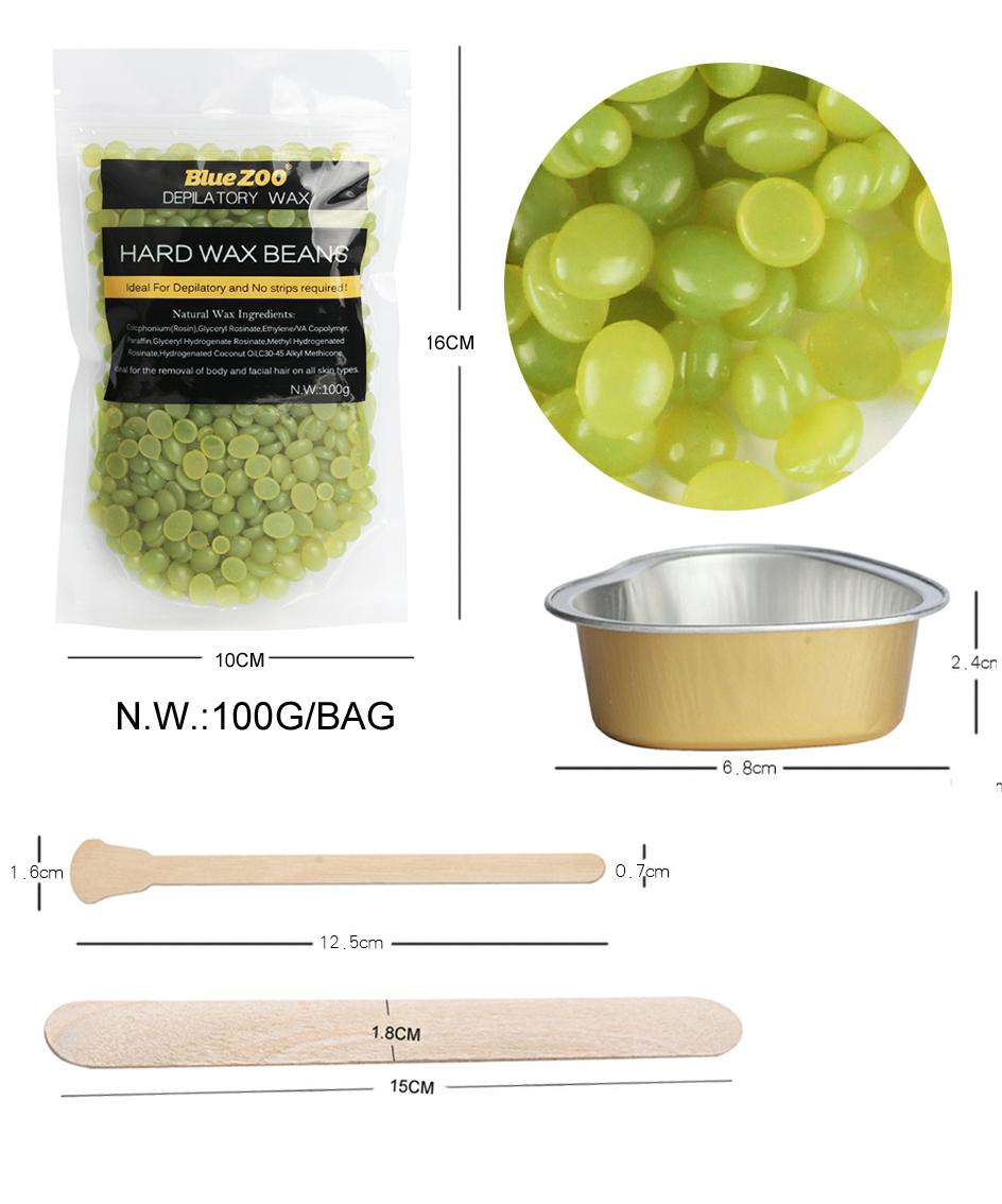 Waxing Kit Depilatory 500CC Hot Wax Hair Removal Machine and Hard Wax Beans 100g Pearl Wax Painless Depilacion Facial Body 16