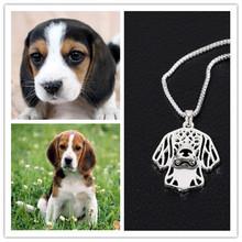 RONGQING Drop Shipping Fashion Silver /Gold Hollow Beagles Necklace Dog Breed Animal Pendant Choker Necklace for Women XL-012