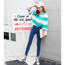 Vetevidi 2017 Spring Summer New Denim Trousers Bodycon Irregular Gap Feet Pants Pencil Pants Women Skinny Jeans Pantalon Femme