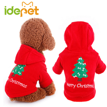 Christmas Dog Clothes for Small Dogs Costume Dog Hoodie Warm Coat Jacket Winter Hooded Chihuahua Clothes 8B25(China)