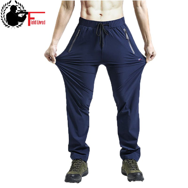 Men Lightweight Strong Fabric Pant Male Jogger Stretch Quick Dry Thin Trousers Plus Size Big XXXL 4XL 5XL 7XL Large Waterproof
