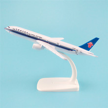 16cm Alloy Plane Model Air China Southern Airlines Aircraft B777 Boeing 777 Airways Airplane Model w Stand Kids  Gift