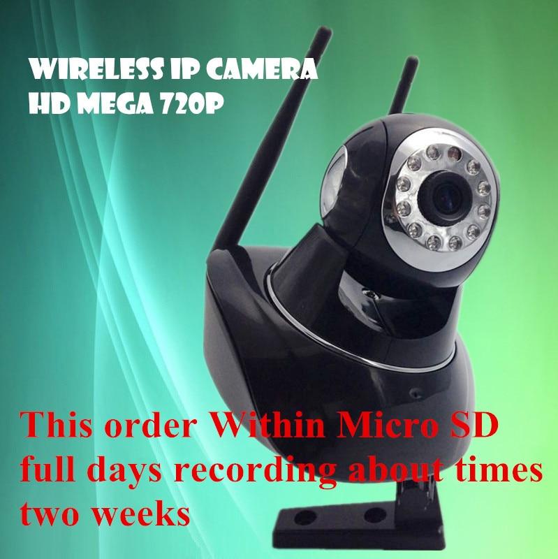 Within 16G sd card CCTV surveillance video recorder system Wireless IP Camera Wifi  720P HD  Mega P2P Alarm Onvif Network <br><br>Aliexpress