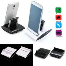 Dual Sync Battery Charger Cradle Dock Station Stand For Samsung Galaxy S3 S4  OTG charging dock station For Smart Phone