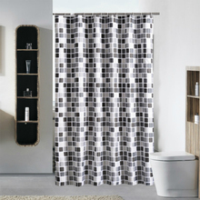 Polyester Printing Mosaic Pattern Shower Curtain Waterproof Bathroom Curtain with Hooks Home Decor Bathroom Accessory Plaid 1PC(China)