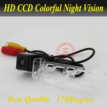 "HD CCD 1/3"" Wired Parking Camera For Toyota New Vios 2008/2009/2010 Rear view camera Reverse Parking system Car camera(China)"