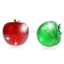 New 3D Clear Puzzle Jigsaw Assembly Model Apple Shape Intellectual Toy Gift Hobby -B116