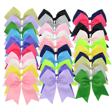30PCS 5 inch Big Ribbon Cheer Bows with Clips School Hair Bows Women Hair Clip Girls Hair Barrettes Wholesale Hair Accessories(China)