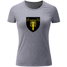 Women's Girls Ladies Game of Thrones House Greyjoy Banner T Shirt Summer Cotton Fitness T-shirt Casual Tshirt Tops Plus Size S(China)