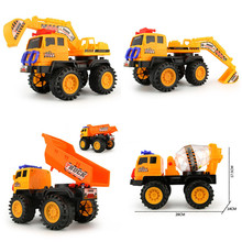 High Quality Inertia Diecasts Car Construction Vehicle Engineering Tractor Car Dump Truck Artificial Model Toy For Boy Kids Gift