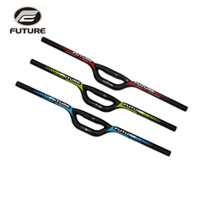 FUTURE mouth-shaped carbon bmx bike handlebar folding bicycle handle bar 25.4 * 560 - 660 mm bicicleta manillar carbon parts(China)