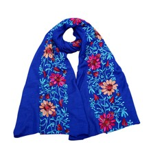 Cotton Floral Scarf Women Embroidered Linen Soft Shawl Wrap Ladies Scarves 180*90cm