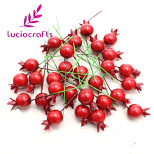 15mm Mini Pomegranate Fruit Small Berries Artificial Flowers Wedding Decorative 20pcs 027034039(China)