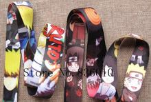 Hot Sale! 60 pcs Popular Japanese Anime Naruto  Key Chains Mobile Cell Phone Lanyard Neck Straps    Favors SZ-248