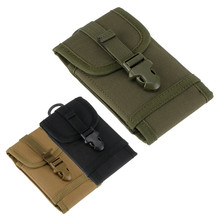 Military Molle Sport Bag Pouch Outdoor Army Hook Loop Belt Pouch Big Mobile Phone Pouch 3 Color choose