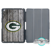 Green Bay Packers Ice Hockey Smart Cover Case For Apple iPad Mini 1 2 3 4 Air Pro 9.7 Stand Folio Wake Up Sleep Function(China)
