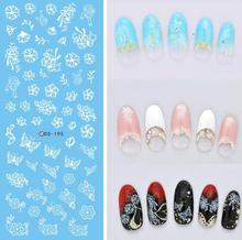 DIY NEW Design Water Transfer Nails Art Sticker White Lace Flowers Nail Wraps Sticker Watermark Fingernails Decals Sexy Product(China)