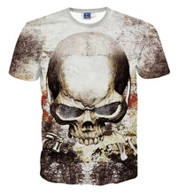 Popular 3D t shirt for Children's summer clothes skull printed big kid short sleeve O-neck t-shirts boys tees tops