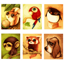 Home Beauty diy oil pictures by numbers cartoon animals children painting acrylic coloring drawing by number Modular craft(China)