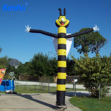 AD044 Free shipping+blower  6m outdoor advertising inflatable bee sky dancer ,cute bee air dancer/Mini air dancer for sale