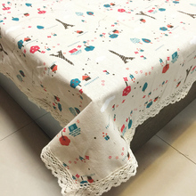 Cotton linen lace tablecloth  pastoral Europe style tower Linen Tablecloth table cloth dining table cover desk towels Dust cloth