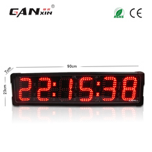 [Ganxin] Low Price 6'' Led Digital Clock Race Timer for Outdoor Use with  Mounting Brackets