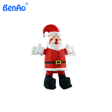 X064 4m height inflatable santa claus for Christmas, oxford cloth inflatable santa claus(China)