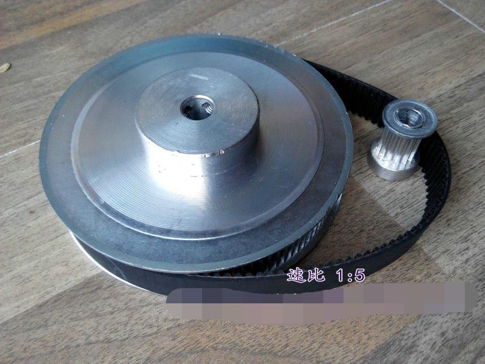 Timing belt pulleys HTD3M (5:1) 75T 15T Teeth Transmission Synchronous belt deceleration suite Engraving Machine Parts<br>
